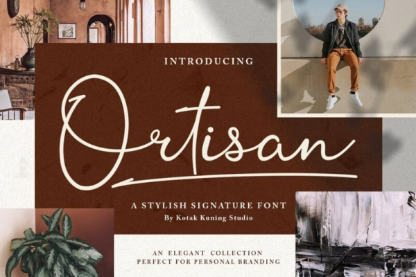 ortisan lettering font