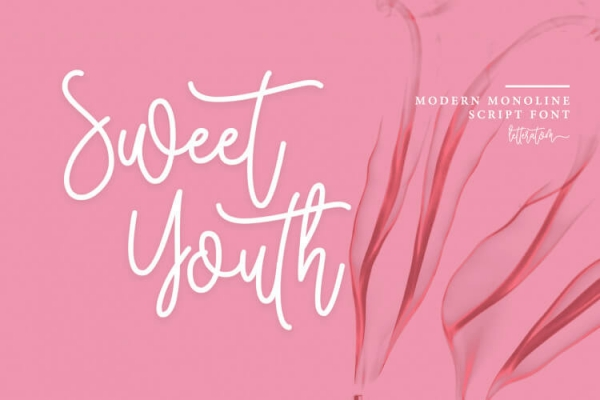 sweetyouth hand lettering font