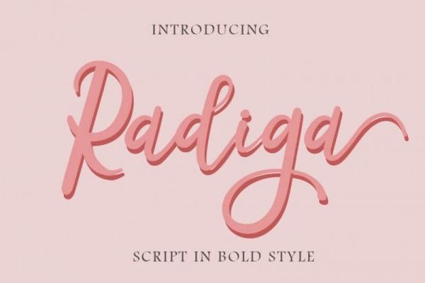 radiga lettering fonts