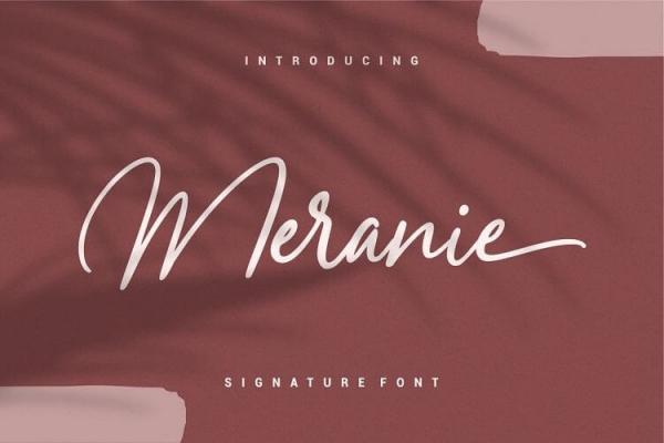 meranie handlettering font