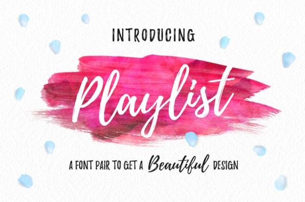 playlist lettering font