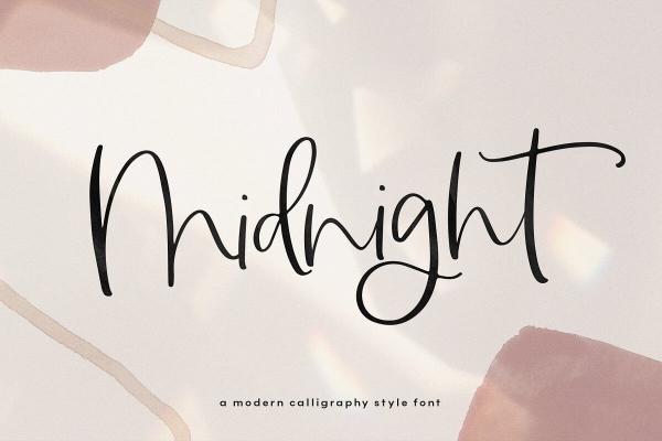 midnight lettering font