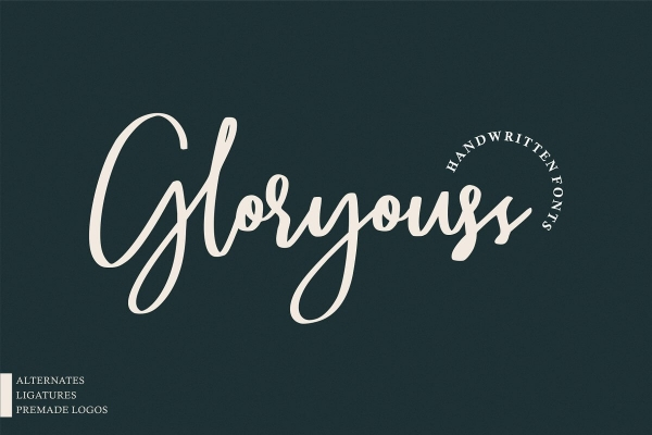 gloryouss lettering font
