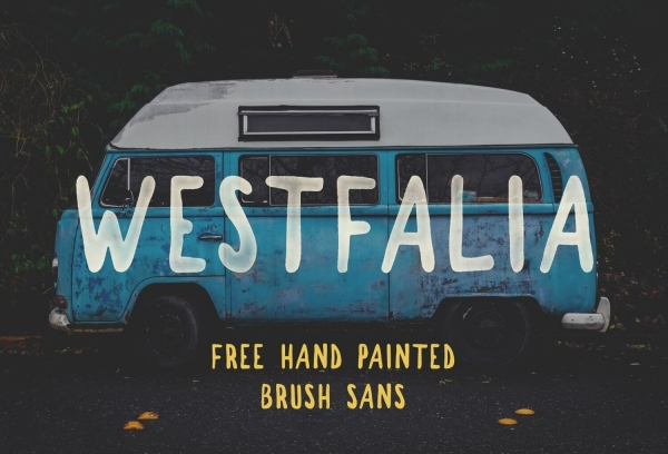 westfalia handwritting font