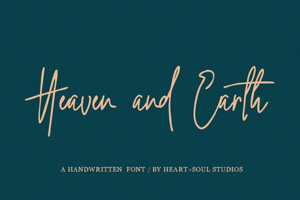 heaven and earth font