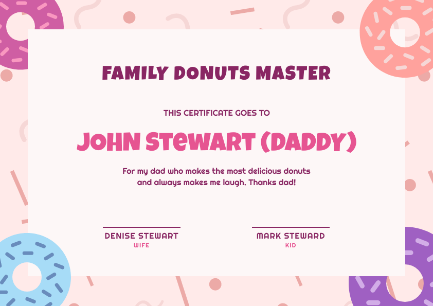 donuts master certificate