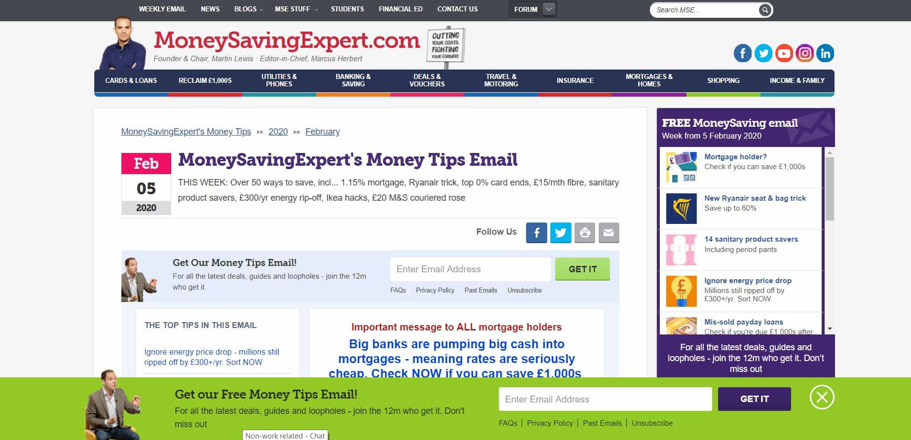 money saving expert website