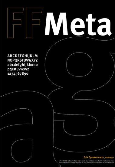 meta font