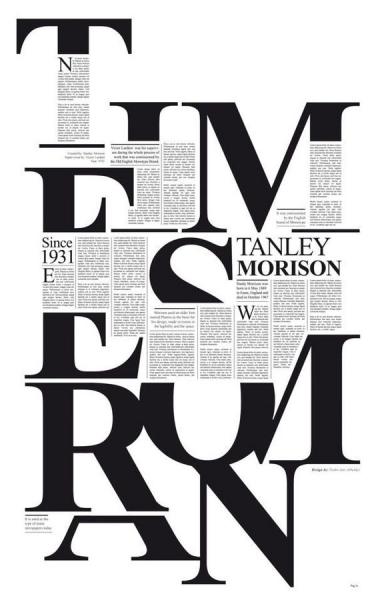 times new roman font design