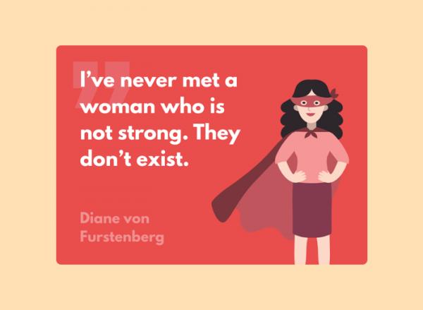 Women's Day Card - Diane von Furstenberg