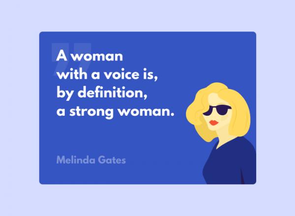 Women's Day Card - Melinda Gates