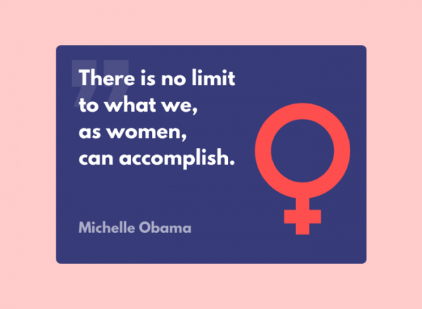Women's Day Card - Michelle Obama