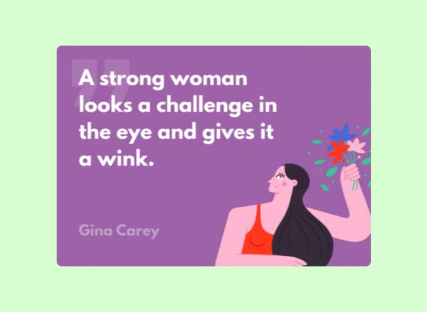 Women's Day Card - Gina Carey