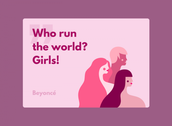 Women's Day Card - Beyonce