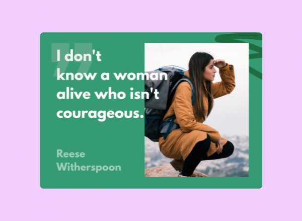 Women's Day Card - Reese Whitherspoon