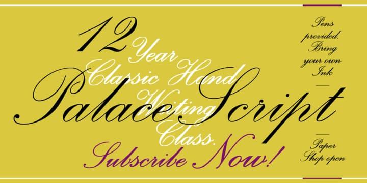 palace script font