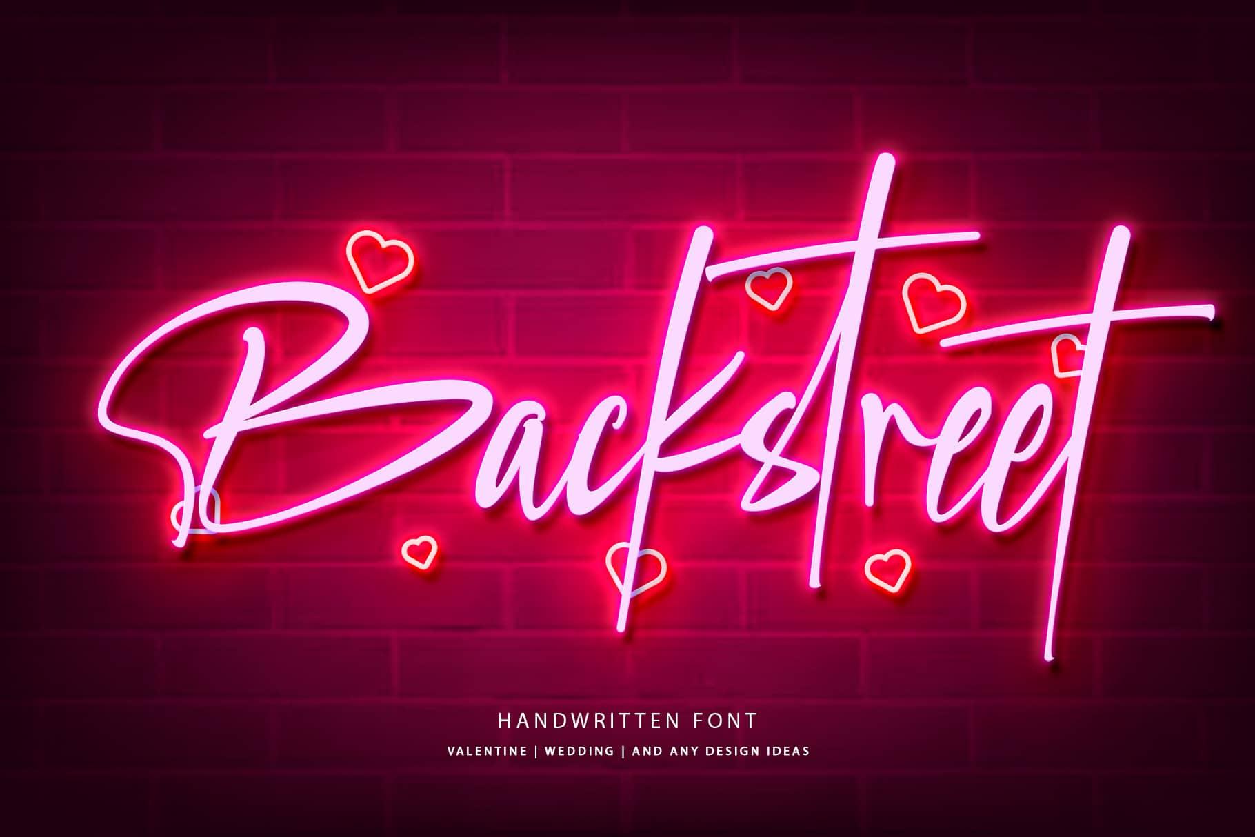 backstreet font