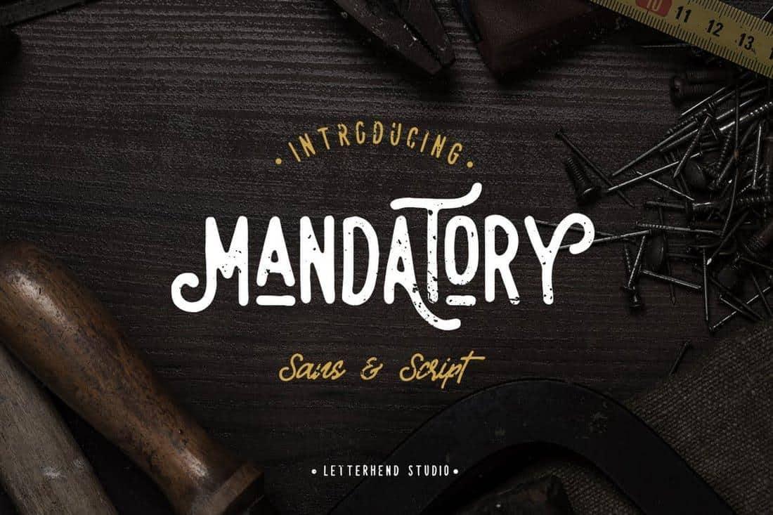 mandatory font