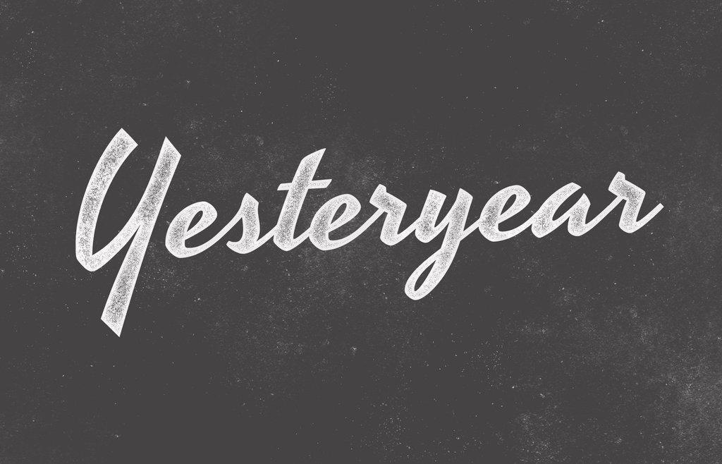 Yesteryear font