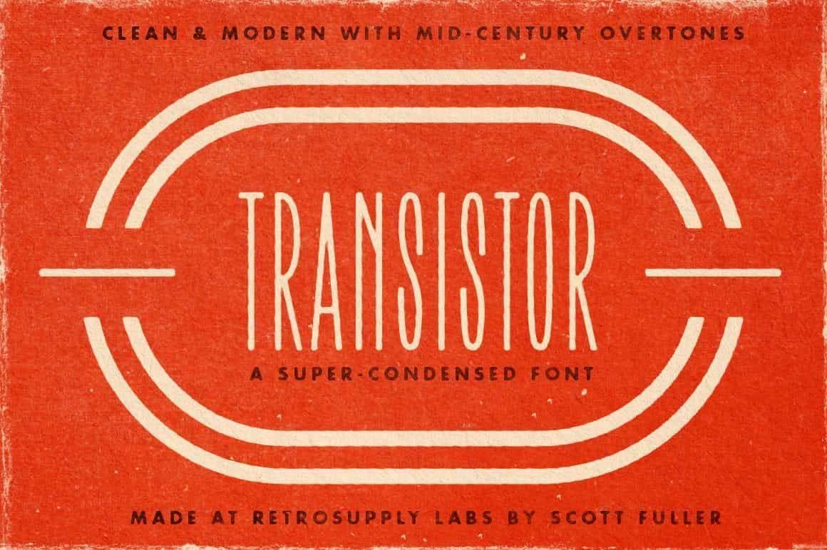 transistor font