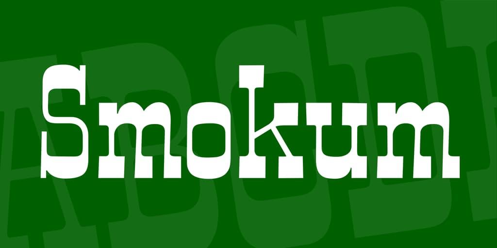 smokum font