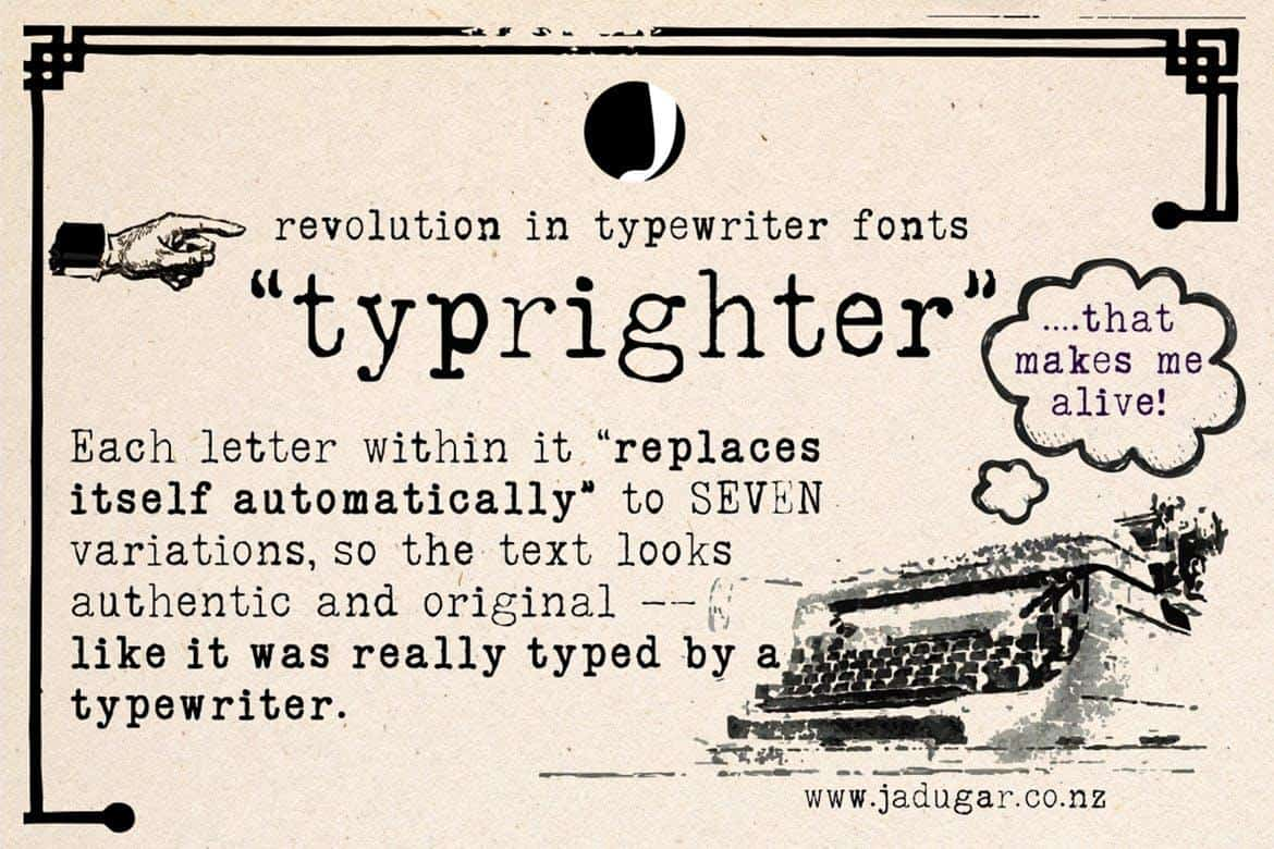 Typrighter font
