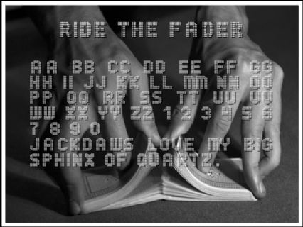ride the fader font