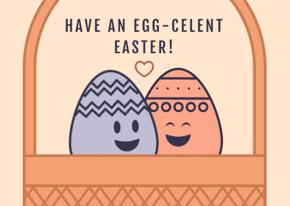 Cute Egg-celent Illustration Easter Card