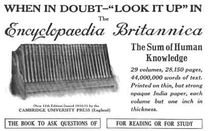 enciclopedia britanica print advertisment