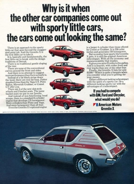 american motors gremlin advertisement