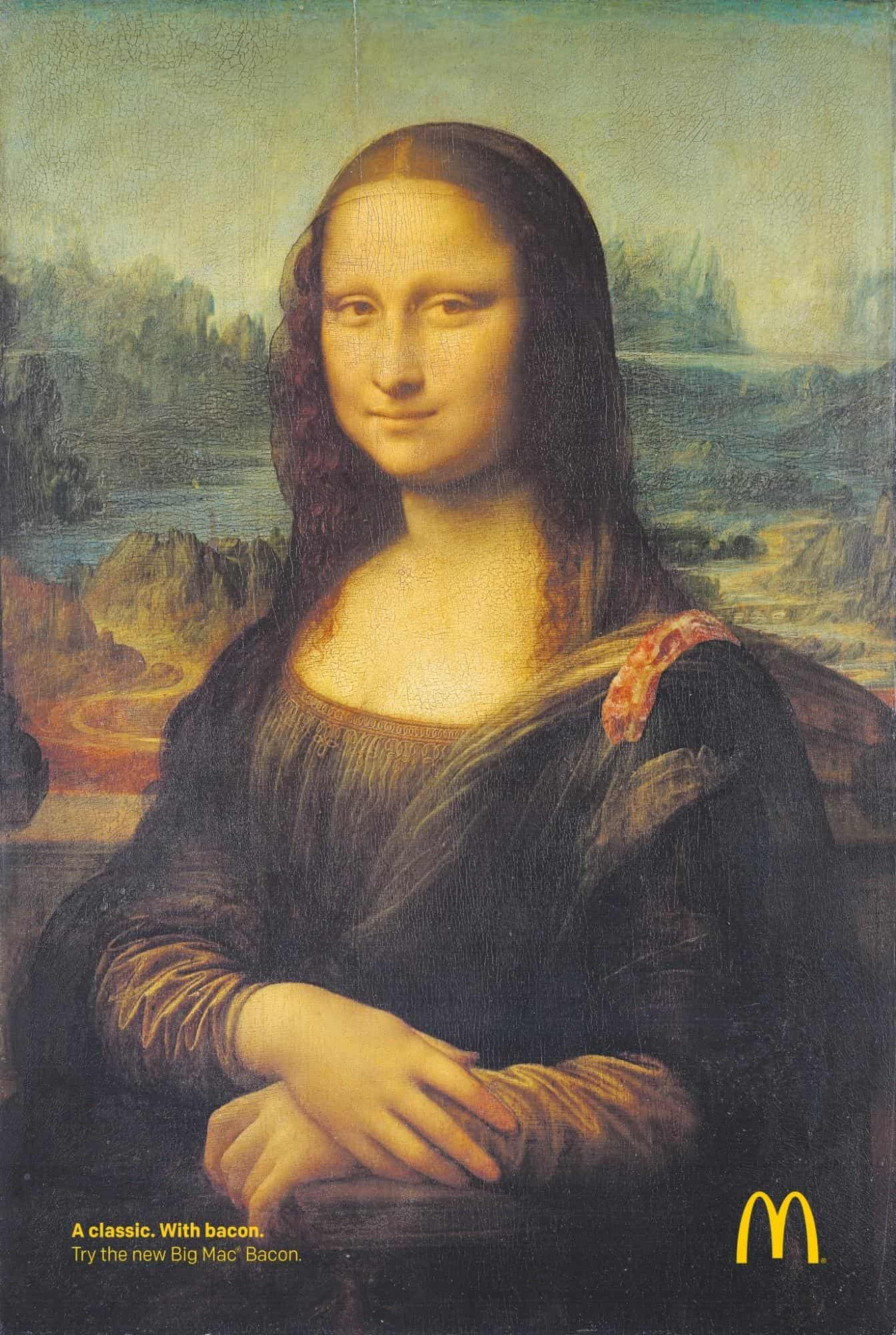 monalisa Mcdonald's advertisement example