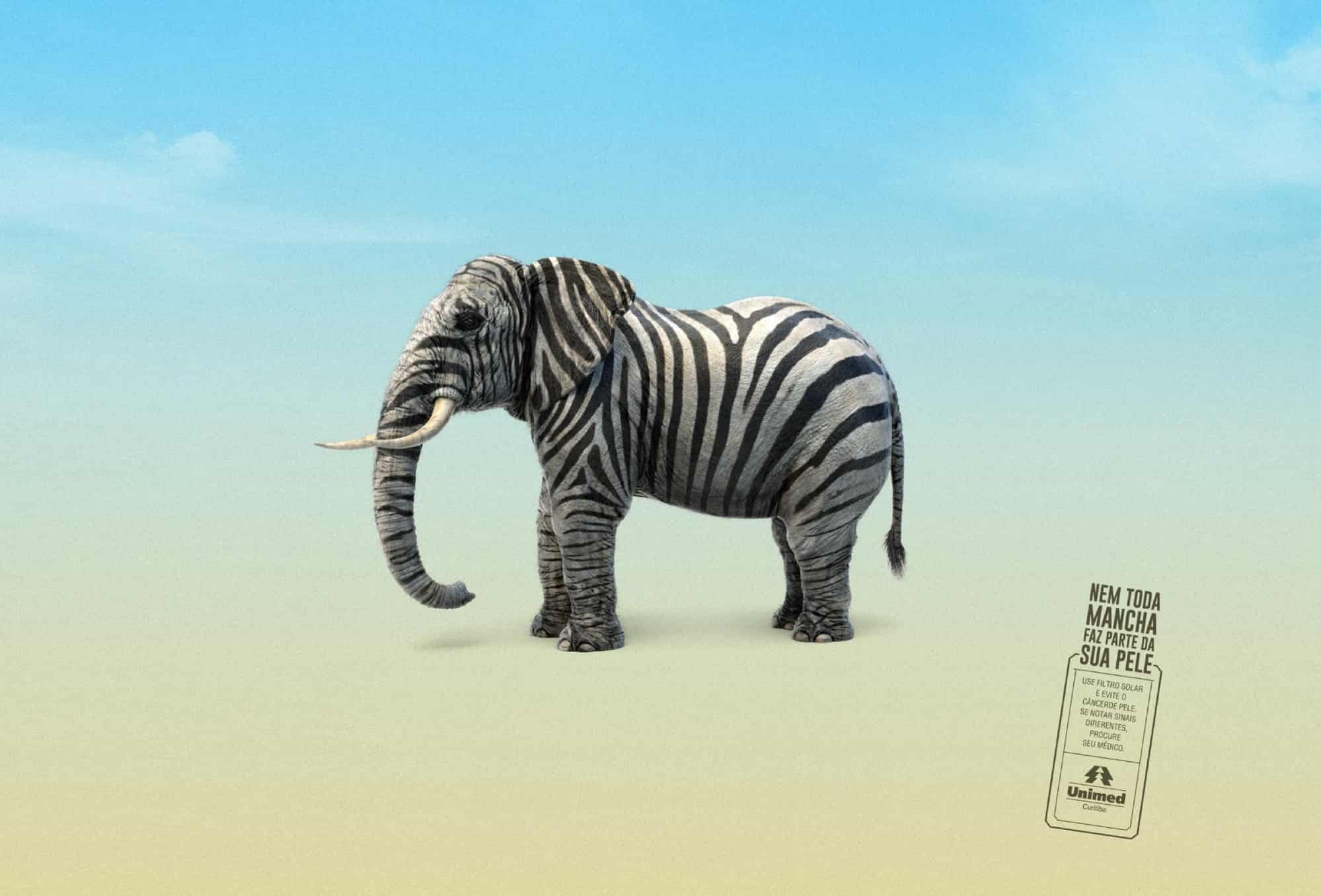 sunblock cream elephant advertisement example