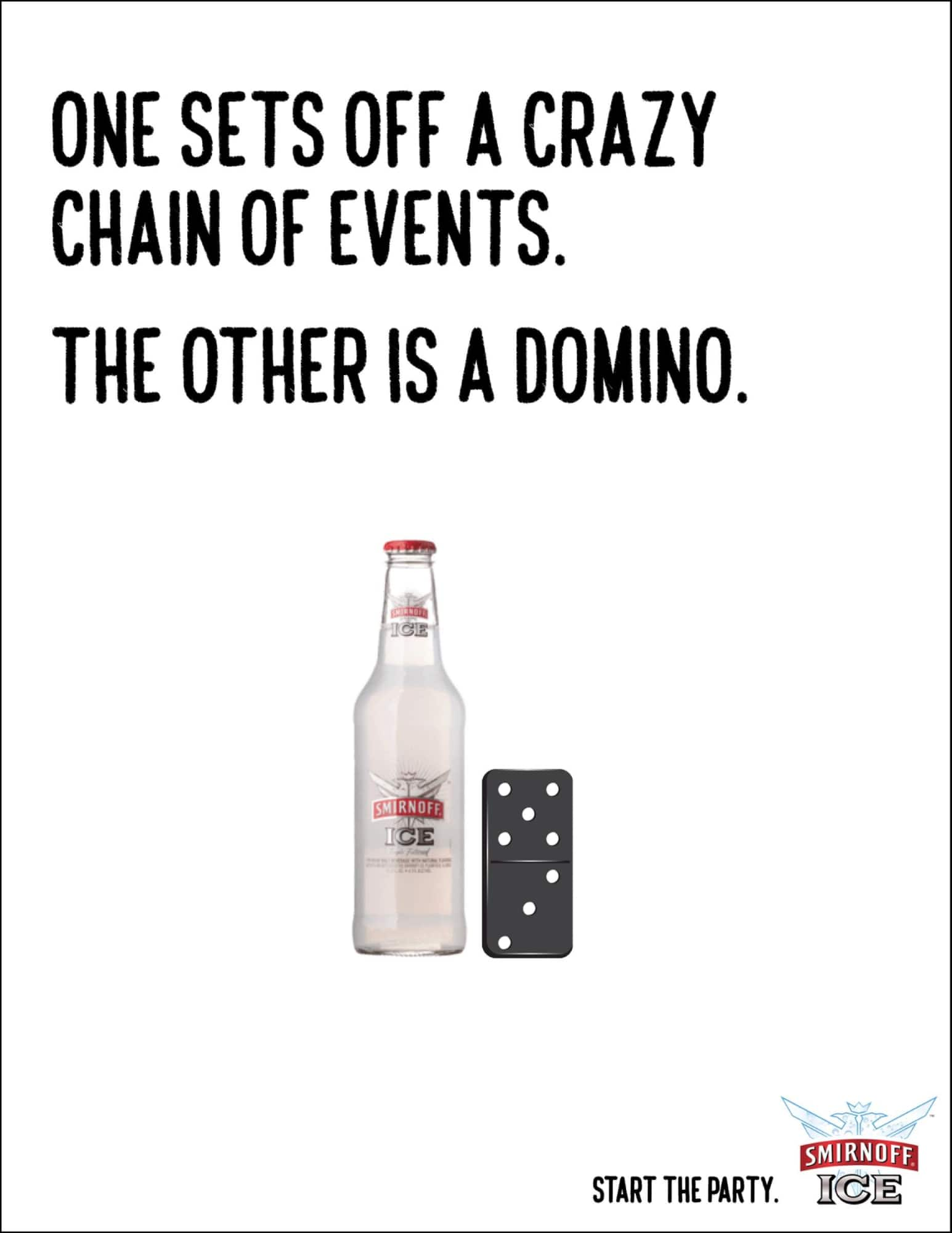 smirnoff domino advertisement example