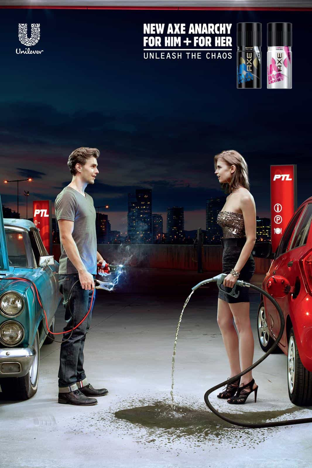 axe print advertisement example