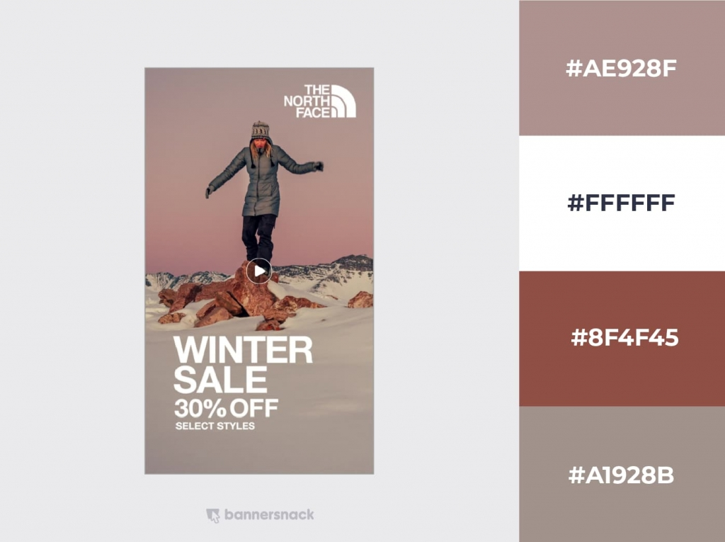 Northface sale Instagram Design