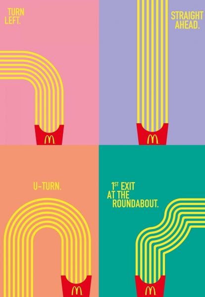 mcdonalds creative lines design