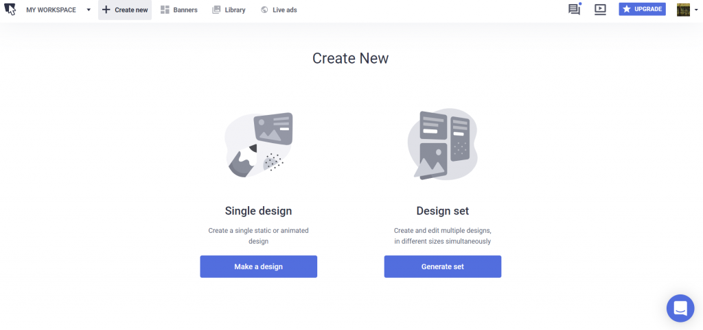 create new redesign bannersnack