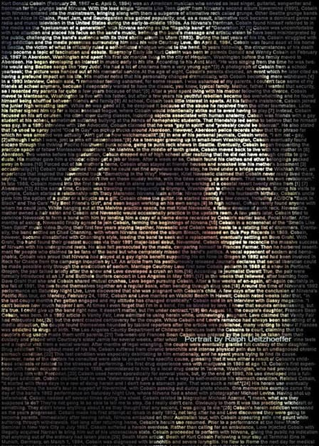 Text Portrait Design Art