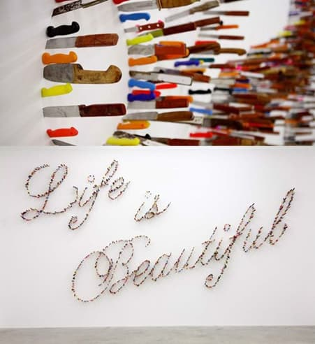 Life is Beautiful Knives Art