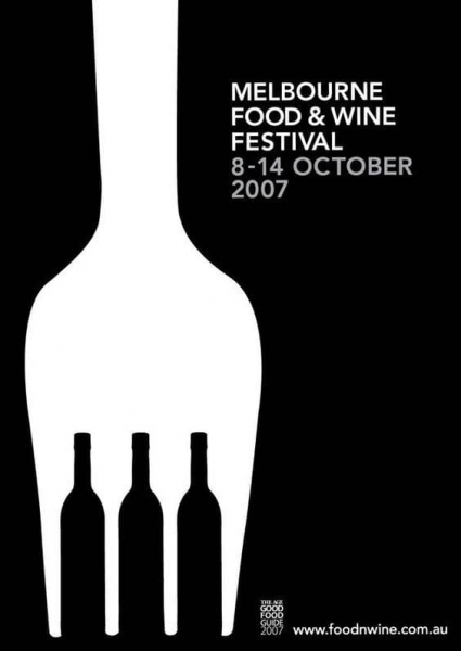Melbourne Food and Wine Festival Poster