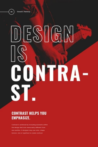 Contrast Poster Design Example