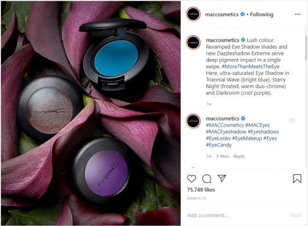 MAC Cosmetics Instagram Post Example