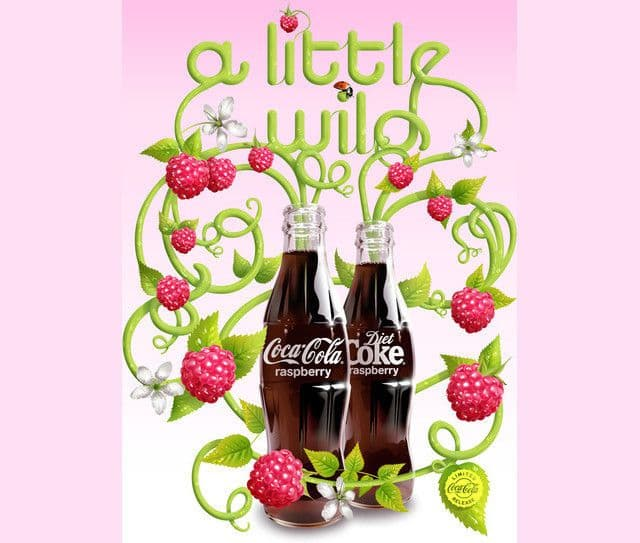 Coca Cola Raspberry Advertising Example