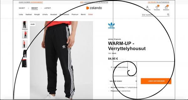 Golden Ratio Adidas Advertisement Example