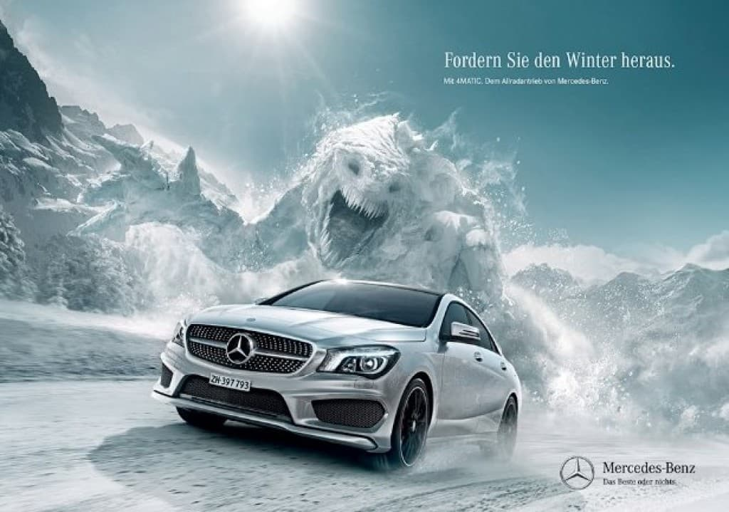 Mercedes Benz Fantasy Advertising Example