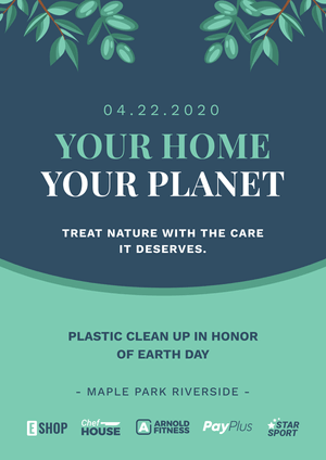 Save the Planet Poster Template