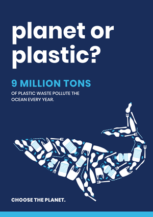 Planet or Plastic Poster Template