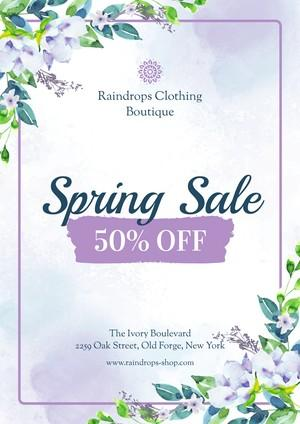 Spring Sale Poster Example