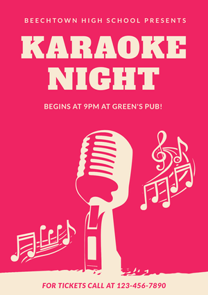 Karaoke Night Poster Example
