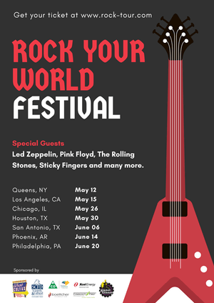 Rock Your World Festival Poster